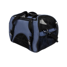 Portable Pet Carrier with Safety Leash Blue