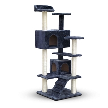 Cat Scratching Post Tree House Condo 134cm Dark Grey