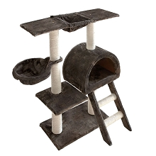 Cat Scratching Poles and Post Furniture Tree 100cm Grey