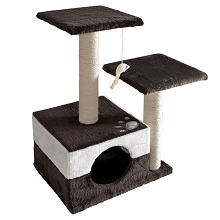 Cat Scratching Poles Post Furniture Tree White Dark Grey