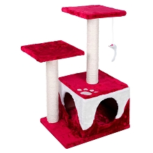 Cat Scratching Poles Post Furniture Tree White Red