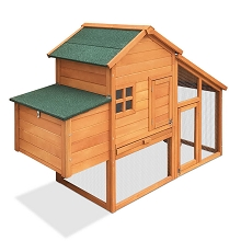 Wooden & Galvanised Wire Pet Hutch with Nesting Box