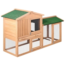 Multi Purpose Small Animal Hutch House 2 Story Run