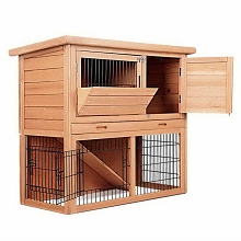 High Quality Multi Purpose Small Animal Hutch 2 Story Run