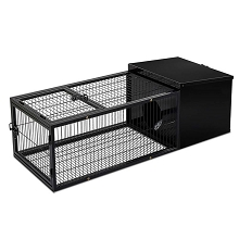 Comfy & Secure Hutch with Run Medium Black
