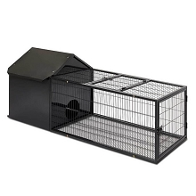 Comfy & Secure Hutch with Run Large Black