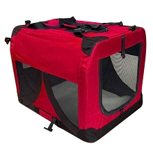 Large Portable Soft Dog Crate Cage Kennel Red