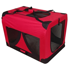 Extra Large Portable Soft Dog Crate Cage Kennel Red