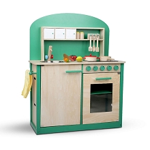 Kids Wooden Play Set Kitchen 8 Piece - Green