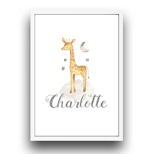 Personalised Framed Wall Art - Giraffe