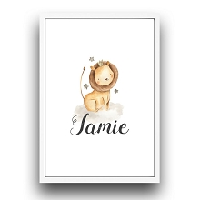 Personalised Framed Wall Art - Lion