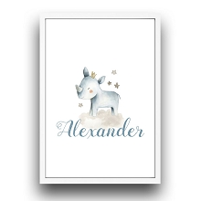 Personalised Framed Wall Art - Rhino