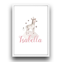 Personalised Framed Wall Art - Zebra