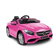 Mercedes S63 Kids Ride On Car Pink