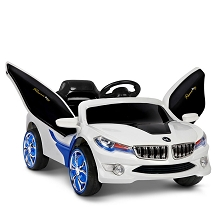 Kids Ride on Car with Remote Control Blue White