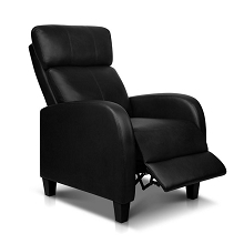 Premium PU leather Armchair Recliner Black