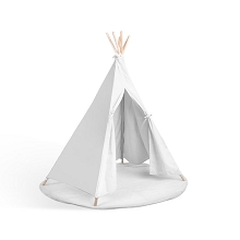 DELUXE Durable Cotton Canvas Teepee Tent White