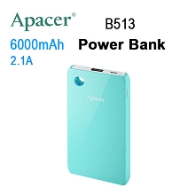 APACER Mobile Power Bank B513 6000mAh Blue RP