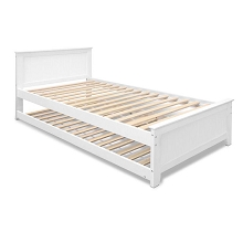 King Single Wooden Bed Frame Trundle