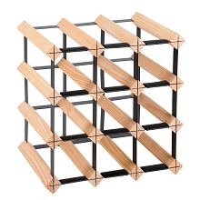 Space Saving 12 Bottle Timber Wine Rack