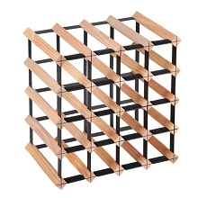 Space Saving 20 Bottle Timber Wine Rack