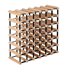 Space Saving 42 Bottle Timber Wine Rack