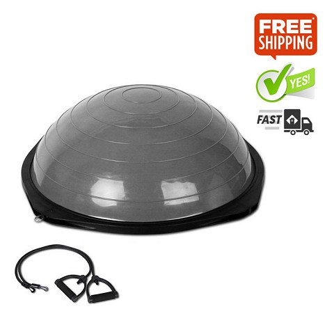BOSU Trainer Ball with Resistance Bands - Grey