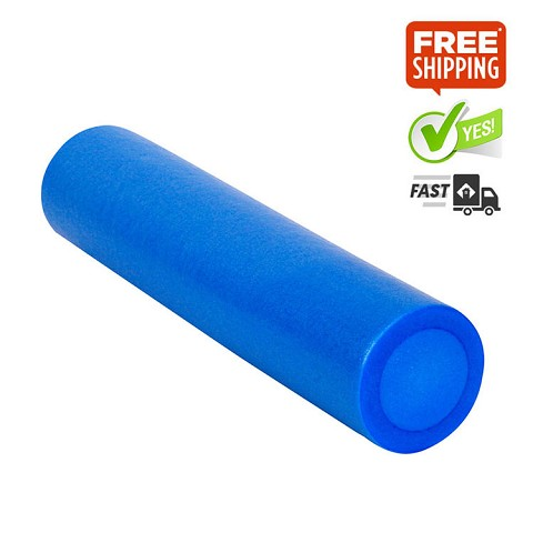Yoga Gym Pilates EPE Stick Foam Roller Blue 45 x 15cm