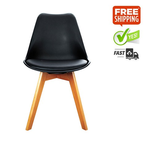 Replica Eames Eiffel DSW Dining Chair Balck Set of 2