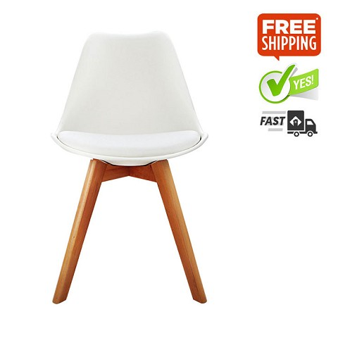 Replica Eames Eiffel DSW Dining Chair White Set of 4
