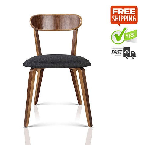 Modern Dining Chairs Charcoal Set of 2