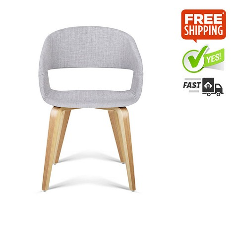 Modern Dining Chairs  Light Grey Set of 2