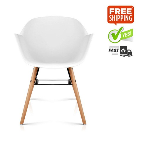Eames Replica DAW Dining Chair White Set of 2