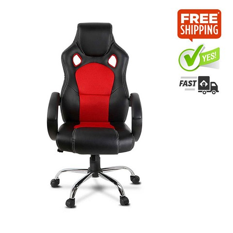 Leather Racing Office Chair Red