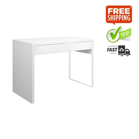 Office Computer Desk Table 2 Drawers White