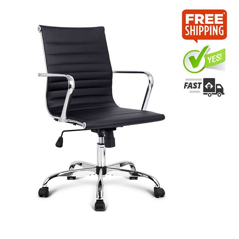 Eames Replica PU Leather Executive Office Chair Black