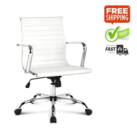 Eames Replica PU Leather Executive Office Chair White