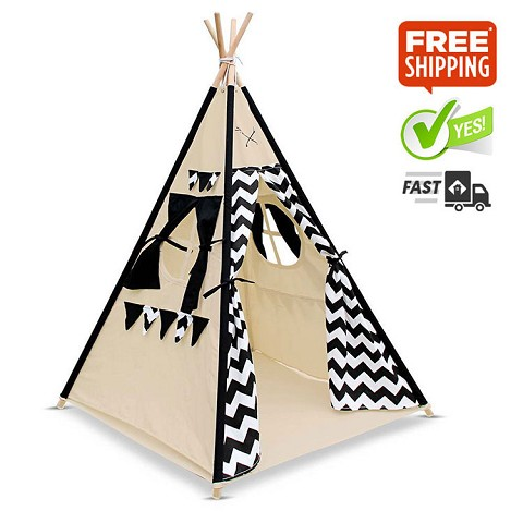 "High Quality Cotton Canvas Kids Teepee ""Classy"""