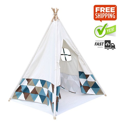 "High Quality Cotton Canvas Kids Teepee ""Triangle"""