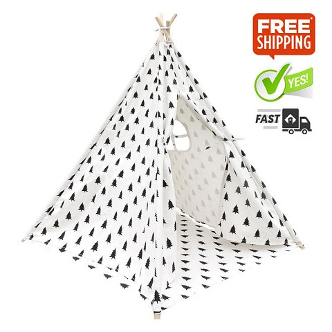 "High Quality Cotton Canvas Kids Teepee ""Trees"""