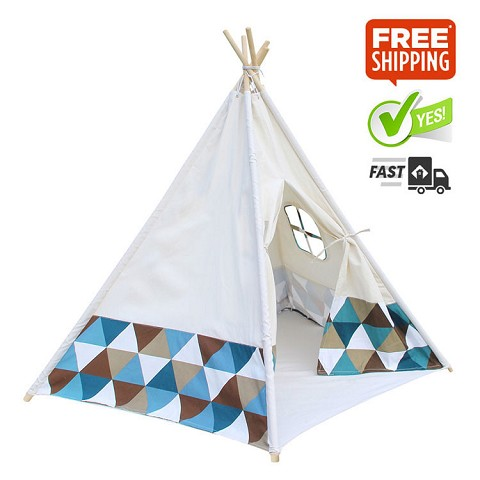 "High Quality Cotton Canvas Kids 5P Teepee ""Triangle"""
