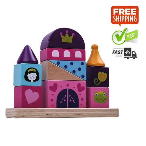 TOOKY TOY Castle Block Tower