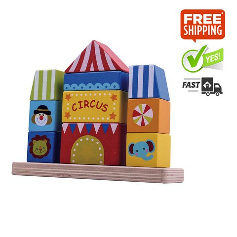 TOOKY TOY Circus Block Tower