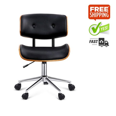 Stylish Executive Walnut Office Chair