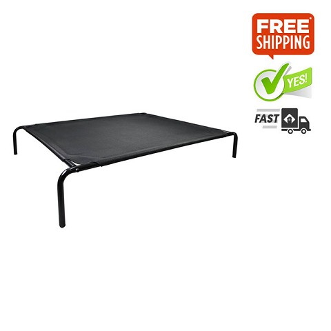 Weatherproof Trampoline Dog Bed Black Small