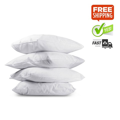 Set of 4 Pillows Firm