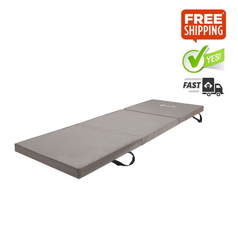 Trifold Exercise Mat Floor Grey