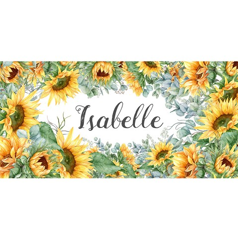 Personalised Name Sign - Floral Sun Flowers