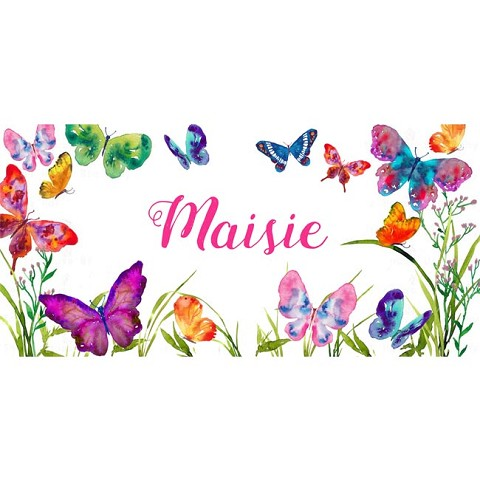 Personalised Name Sign - Butterfly Garden