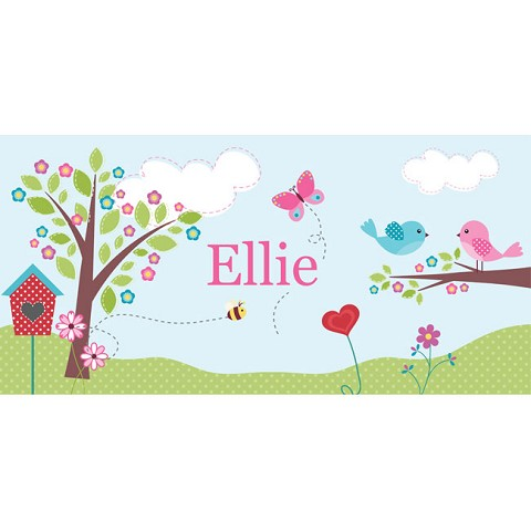 Personalised Name Sign - Birds Nest II